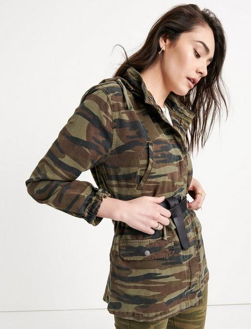WASHED CAMO JACKET, GREEN MULTI