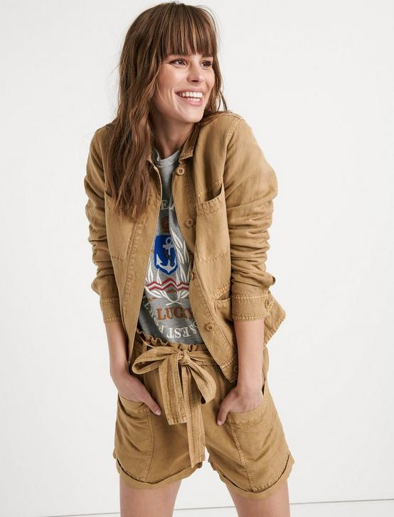 TOMBOY UTILITY JACKET, KHAKI, productTileDesktop