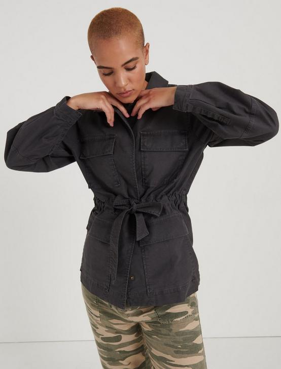 POET SLEEVE UTILITY JACKET, CHARCOAL, productTileDesktop