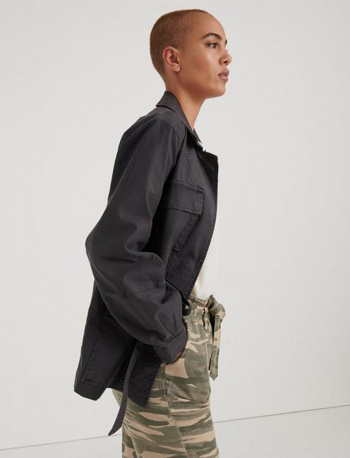POET SLEEVE UTILITY JACKET, CHARCOAL