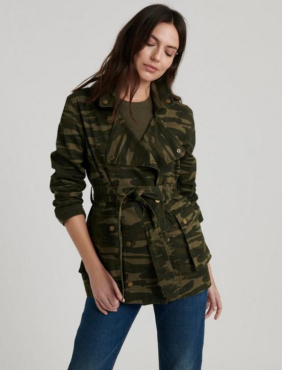 BELTED UTILITY JACKET, OLIVE MULTI, productTileDesktop
