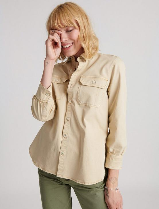 UTILITY SHIRT JACKET, LIGHT KHAKI, productTileDesktop