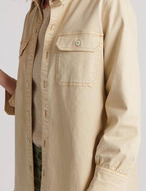 UTILITY SHIRT JACKET, LIGHT KHAKI
