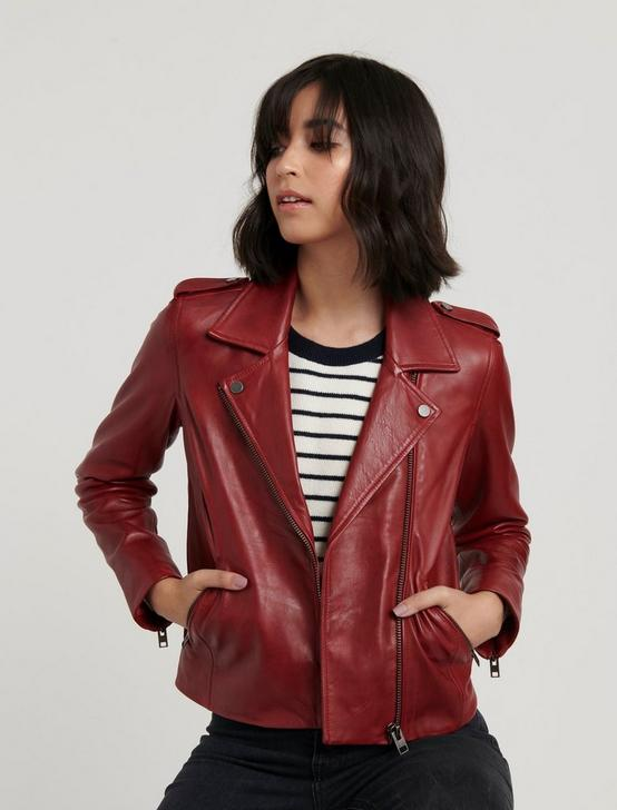 LEATHER MOTO JACKET, RUBARB, productTileDesktop