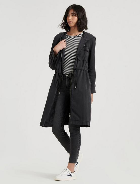 SOFT HOODED UTILITY JACKET, CHARCOAL, productTileDesktop