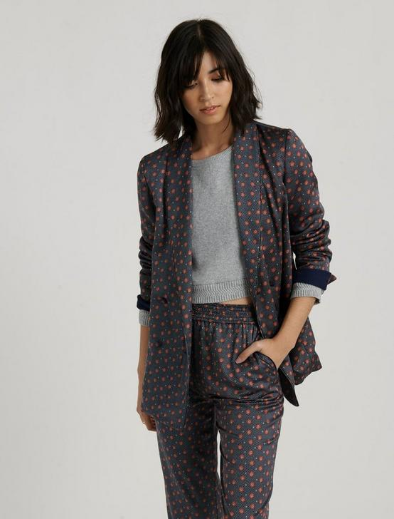 PAJAMA BLAZER, NAVY MULTI, productTileDesktop