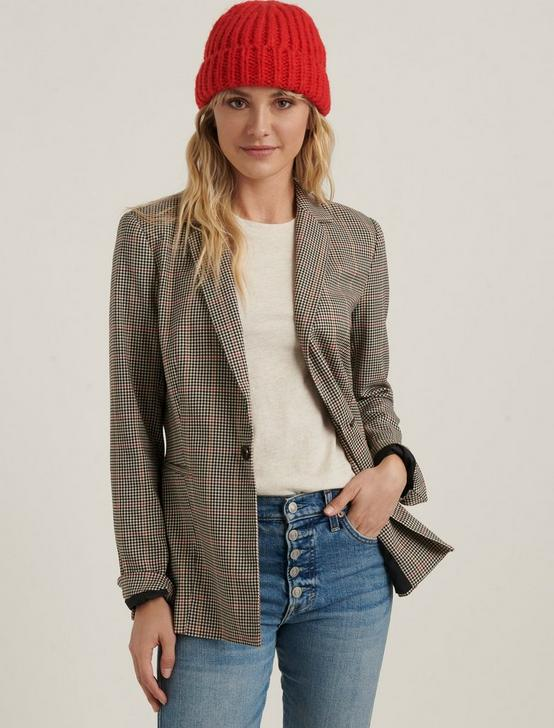 LONDON PLAID BLAZER, NATURAL MULTI, productTileDesktop
