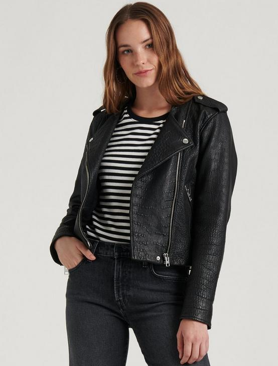 PEBBLE LEATHER MOTO JACKET, 001 LUCKY BLACK, productTileDesktop