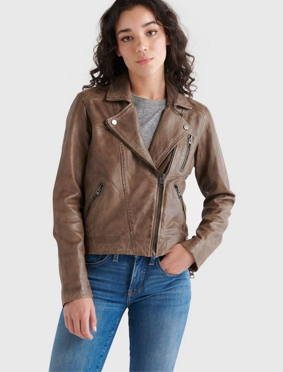 DISTRESSED LEATHER MOTO JACKET, STORM, productTileDesktop