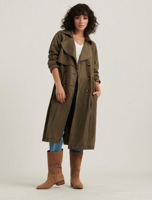THE RELAXED TRENCH COAT, OLIVE TARMAC