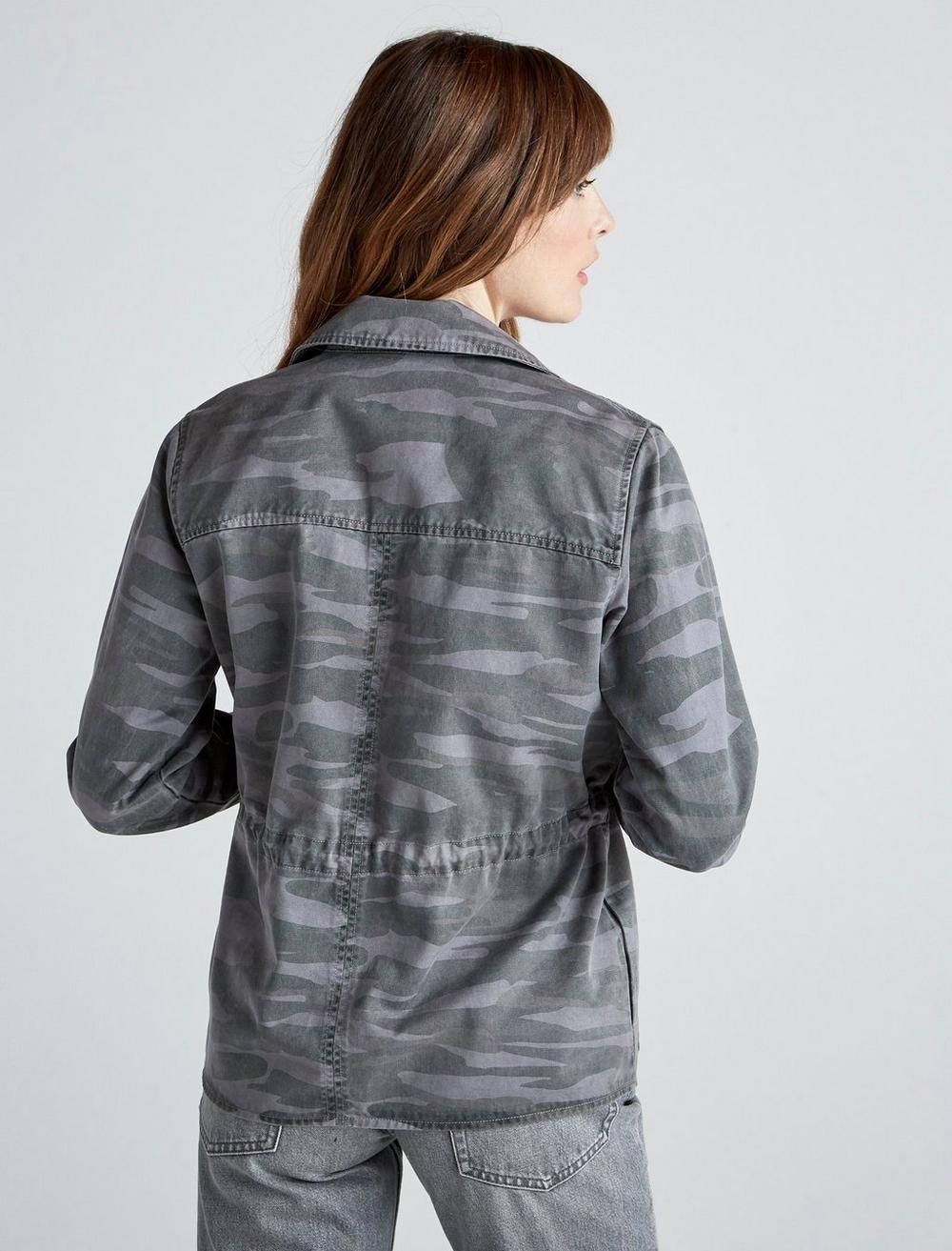 PRINTED CROPPED TRENCH COAT JACKET, image 5