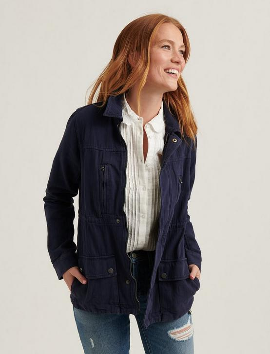 LAUREL UTILITY JACKET, NAVY, productTileDesktop