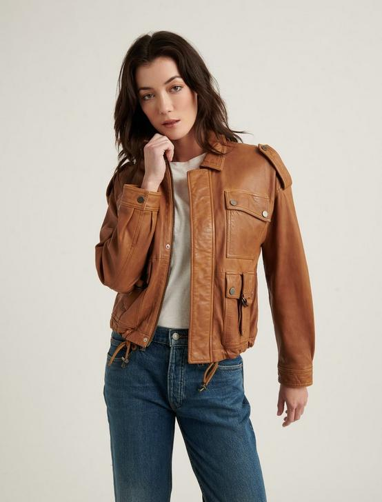 RELAXED INDIE JACKET, COGNAC, productTileDesktop