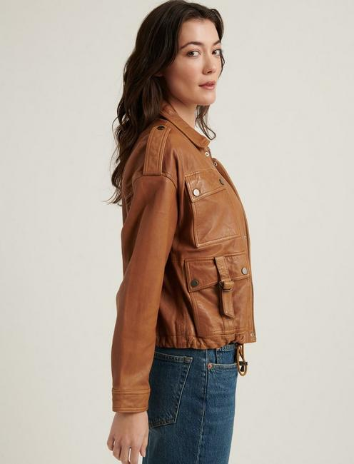 RELAXED INDIE JACKET, COGNAC
