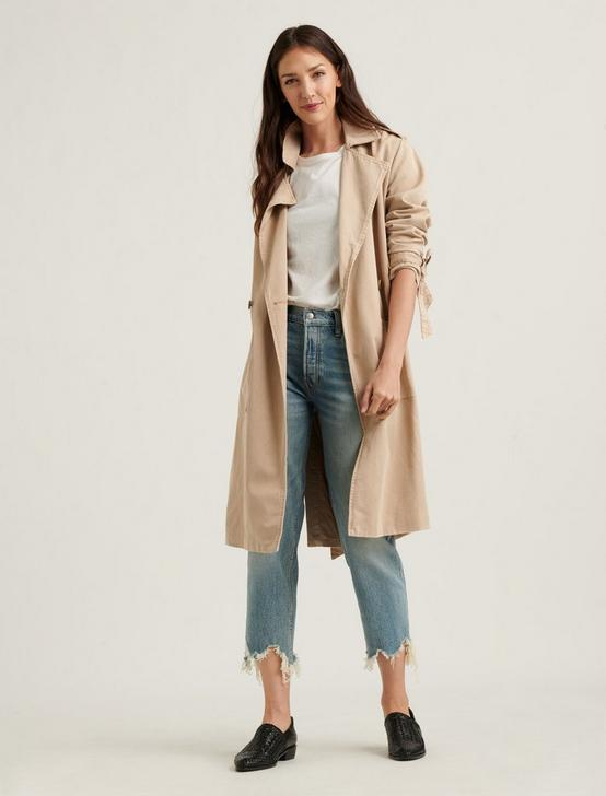 MARGO SOFT TRENCH JACKET, KHAKI, productTileDesktop