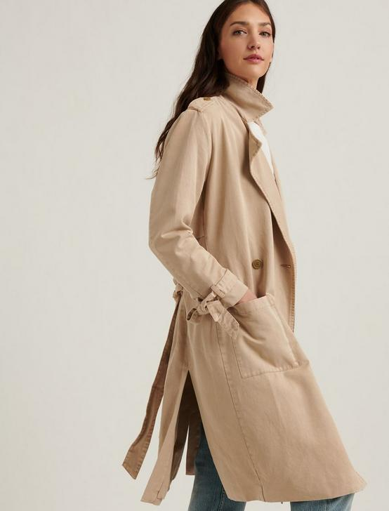 MARGO SOFT TRENCH, KHAKI, productTileDesktop