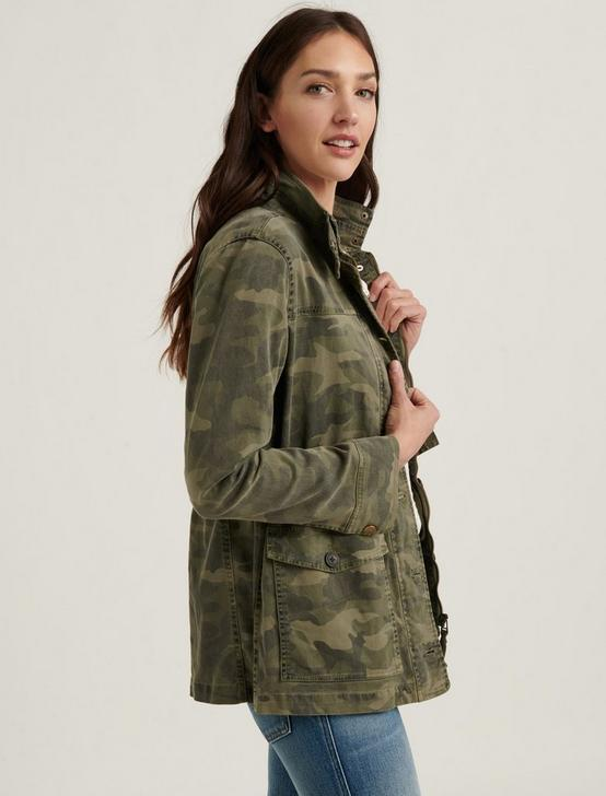 CAMO PRINTED UTILITY JACKET, GREEN MULTI, productTileDesktop