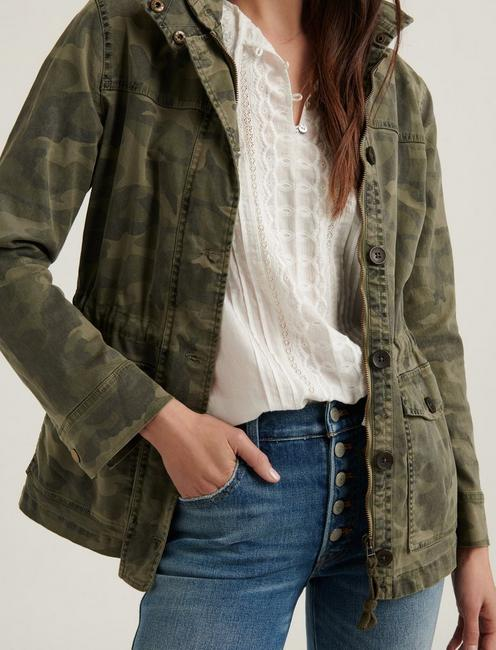 PRINTED UTILITY JACKET, GREEN MULTI