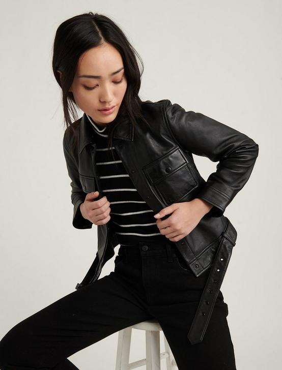 LEATHER UTILITY JACKET, 001 LUCKY BLACK, productTileDesktop