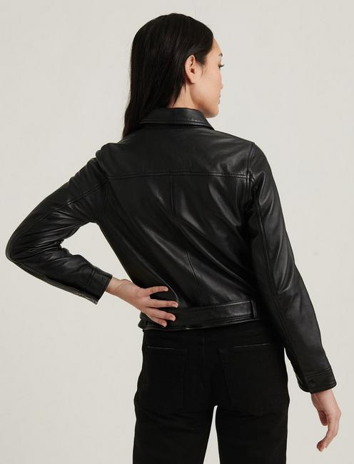LEATHER UTILITY JACKET, 001 LUCKY BLACK