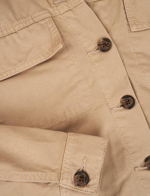LIGHT WEIGHT CANVAS UTILITY JACKET, PLAZA TAUPE