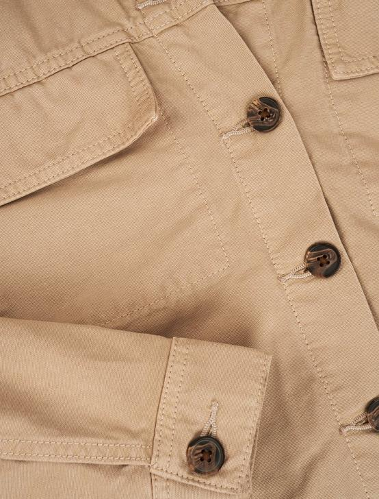 LIGHT WEIGHT CANVAS UTILITY JACKET, PLAZA TAUPE, productTileDesktop
