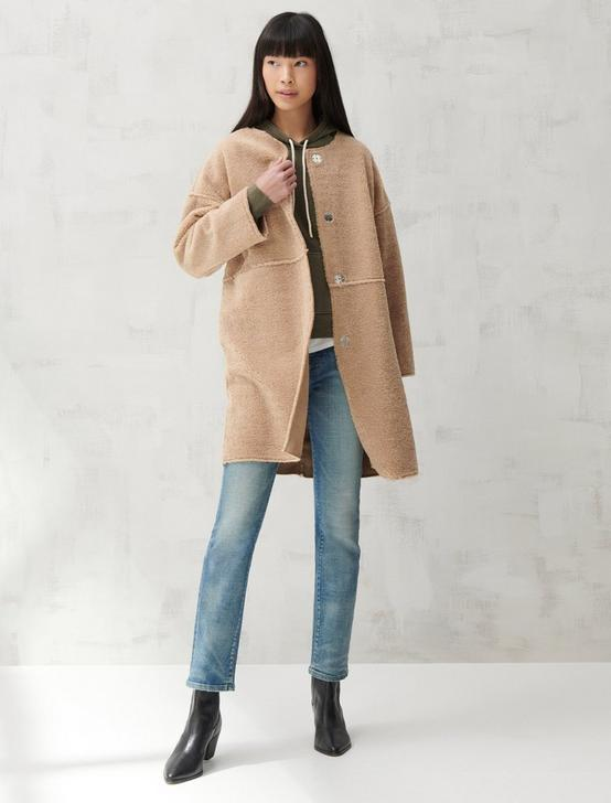 LONG TEDDY COAT, CAMEL, productTileDesktop