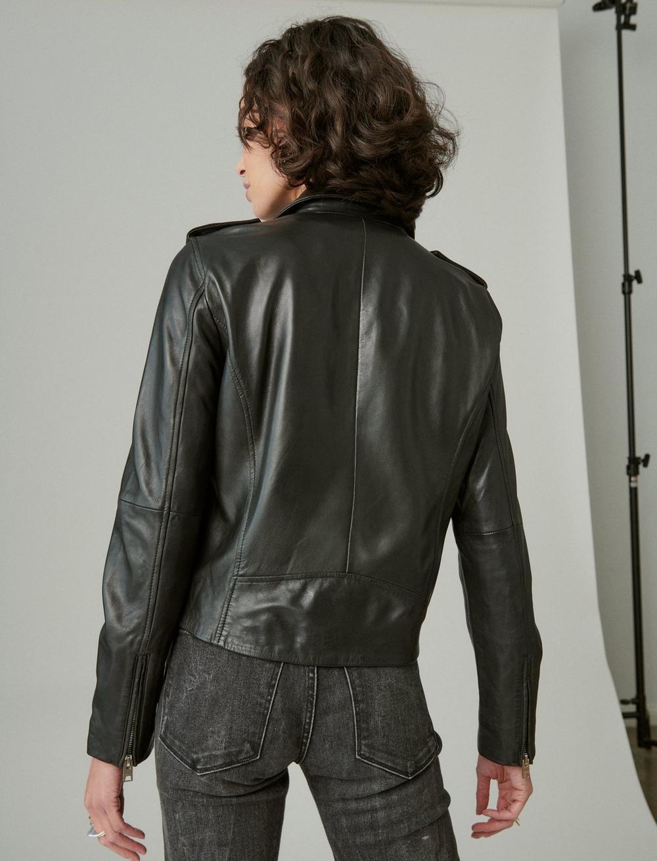 Classic Leather Moto Jacket, image 4
