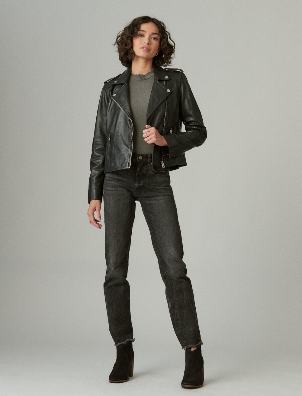 Classic Leather Moto Jacket, image 5