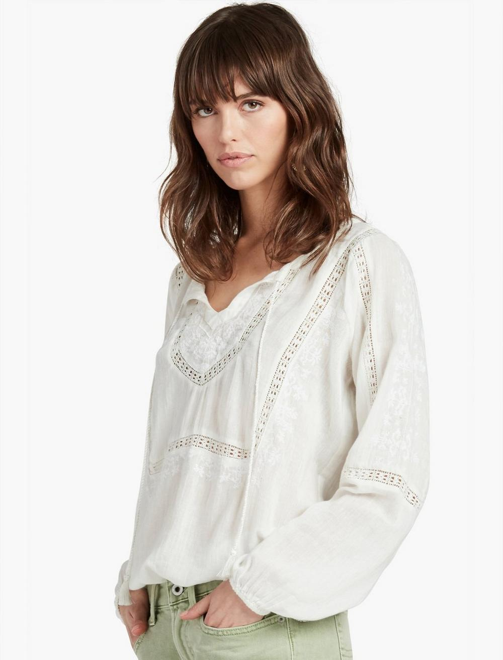 LACE INSERT TOP, image 1