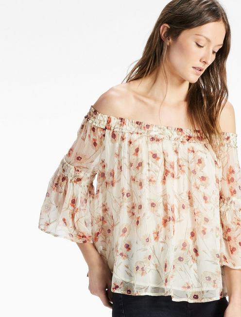 238f37c69e8b7 Shirred Off Shoulder Top | Lucky Brand