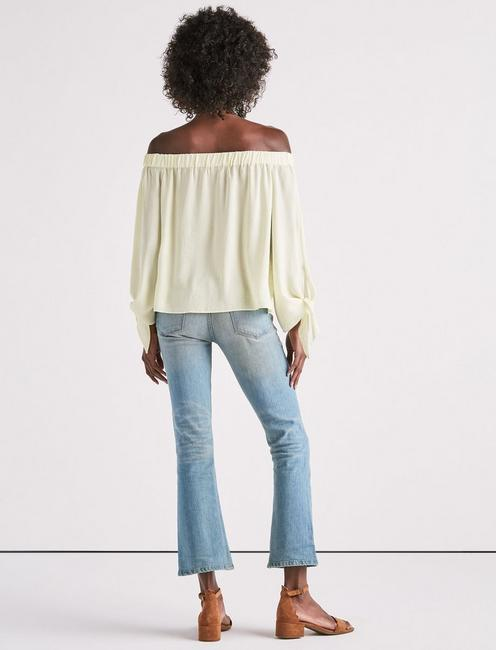 PARACHUTE OFF SHOULDER TOP, TENDER YELLOW