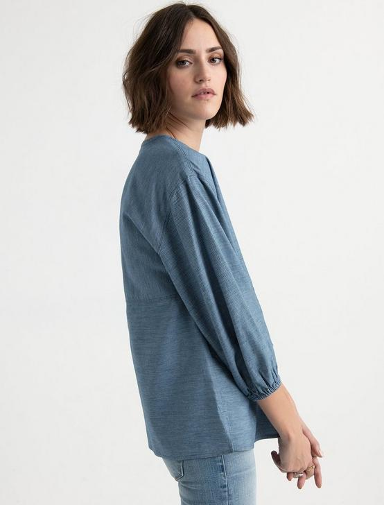 STRIPE POPOVER TOP, INDIGO MULTI, productTileDesktop