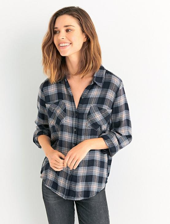 Classic Pleat Back Plaid