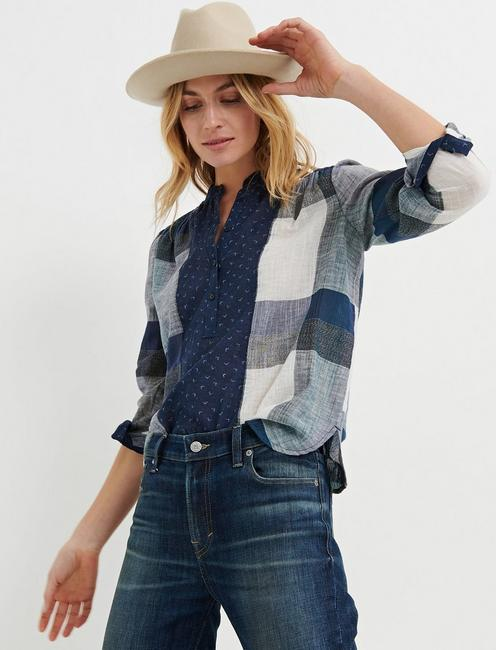 MIXED PLAID POPOVER,