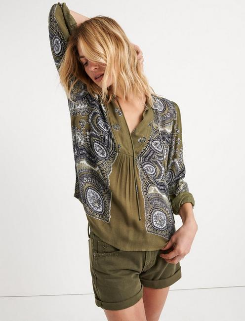 Scarf Paisley Popover Peasant