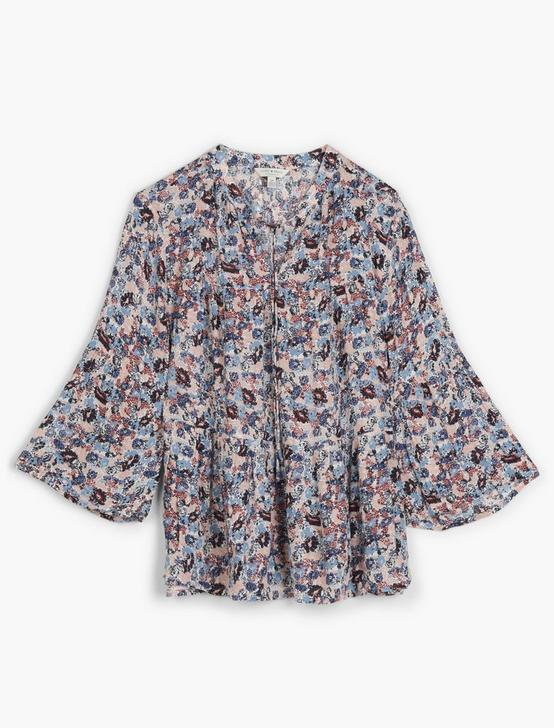 DITSY FLORAL TIERED PEASANT TOP, MULTI, productTileDesktop