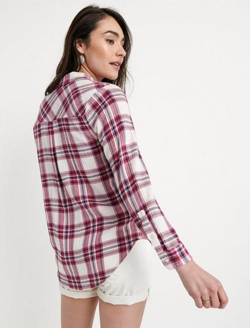 CLASSIC SHIRT, BURGUNDY MULTI