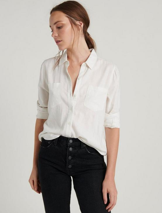 ASHLEY BUTTON DOWN SHIRT, LUCKY WHITE, productTileDesktop
