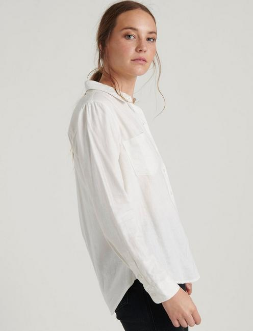 ASHLEY BUTTON DOWN SHIRT, LUCKY WHITE