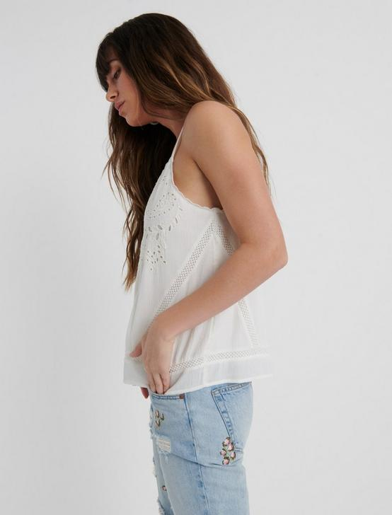 EMBROIDERED TANK TOP, MARSHMALLOW, productTileDesktop