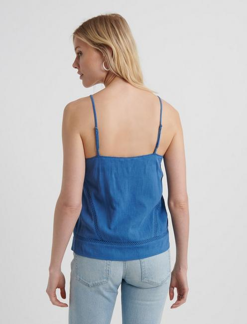 EMBROIDERED TANK, BRIGHT COBALT