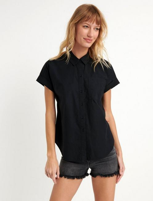 SASHA POPLIN  SHIRT, 001 LUCKY BLACK