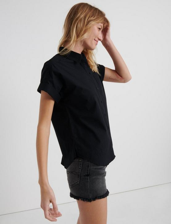 SASHA POPLIN  SHIRT, 001 LUCKY BLACK, productTileDesktop
