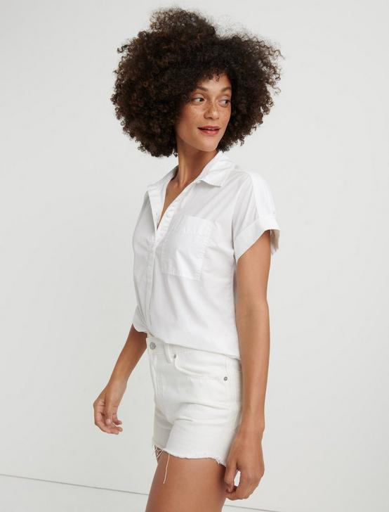 SASHA POPLIN  SHIRT, LUCKY WHITE, productTileDesktop