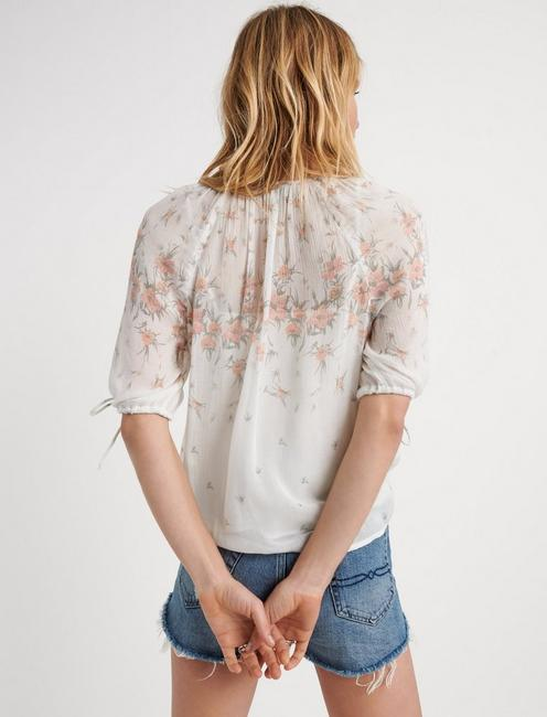 FLORAL PRINTED TOP, NATURAL MULTI