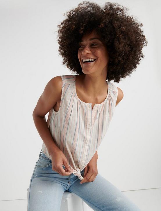 0aaa63877536 Striped Sleeveless Shirt ...