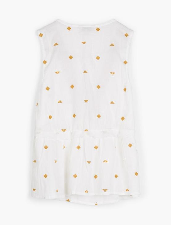 EMB SLEEVELESS ROMANTIC TOP, LUCKY WHITE, productTileDesktop