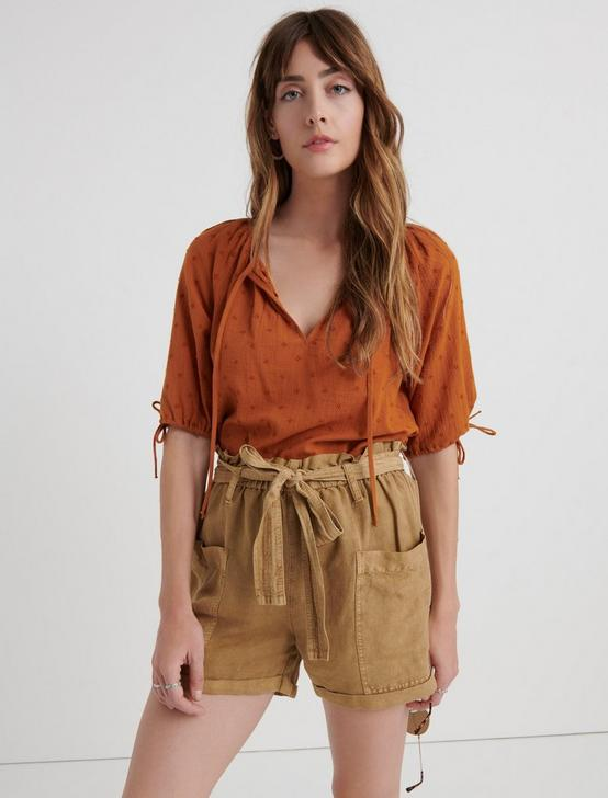 TEXTURED VIVIENNE TOP, PUMPKIN SPICE, productTileDesktop