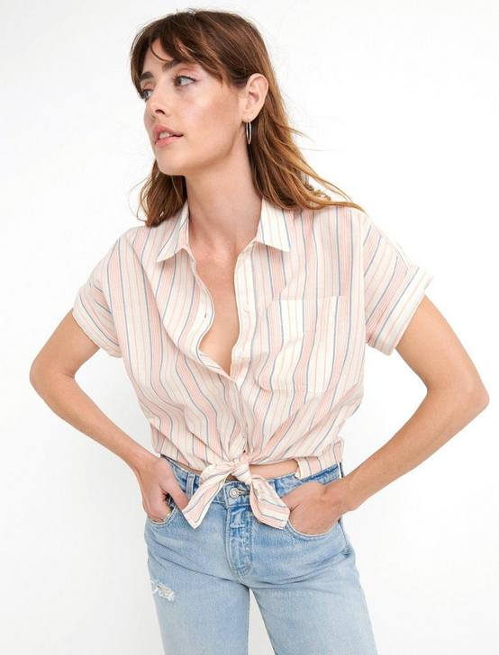 SASHA STRIPED SHIRT, MULTI, productTileDesktop